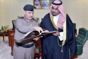نائب أمير نجران يتسلم التقرير الإحصائي لشرطة المنطقة