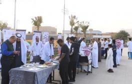 كلية الصيدلة بجامعة نجران  تقدم نصائح طبية للمجتمع بفعالية