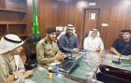 ضمن مبادرة الوعي الفكري طلاب ثانوية الملك فهد بنجران يقومون بزيارة شرطة المنطقة