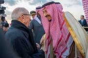 خادم الحرمين الشريفين يصل إلى الجمهورية التونسية