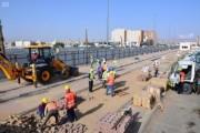 أمانة نجران تبدأ في تطوير وتحسين الجزيرة الجانبية بطريق الملك عبد العزيز