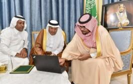 أمير نجران بالإنابة يدشن خدمة الواتس أب 940