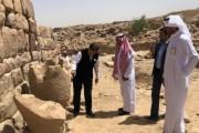 سفير الهند لدى المملكة يزور موقع الأخدود الأثري بنجران