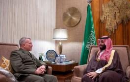 سمو ولي العهد يلتقي قائد القيادة المركزية الأمريكية