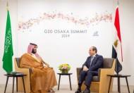 سمو ولي العهد يلتقي رئيس جمهورية مصر العربية