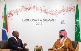 سمو ولي العهد يلتقي رئيس جمهورية جنوب أفريقيا