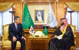 سمو ولي العهد يستقبل وزير الدفاع بكوريا الجنوبية