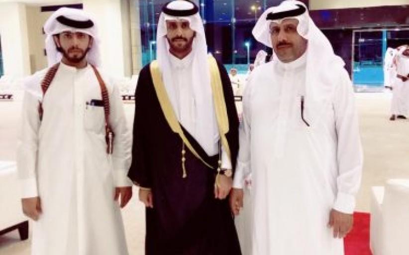 رجل الاعمال سالم ال شرية يحنقل بزواج ابنه احمد