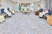 سمو أمير نجران يستقبل رؤساء المحاكم وأصحاب الفضيلة ومدير فرع النيابة العامة