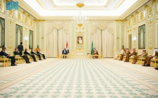 سمو ولي العهد ورئيس الوزراء العراقي يعقدان جلسة مباحثات رسمية .. وصدور بيان مشترك