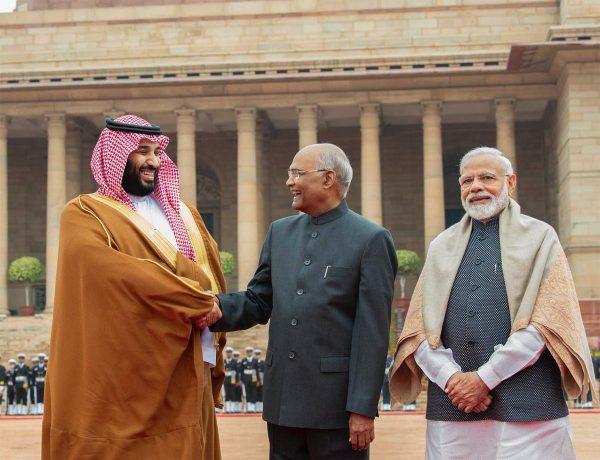 رئيس جمهورية الهند يستقبل سمو ولي العهد