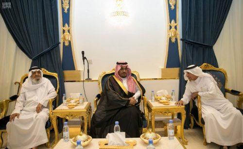 أمير نجران بالنيابة يعزي ذوي رئيس بلدية الحصينية آل حيدر