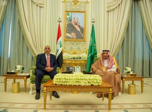 خادم الحرمين الشريفين ورئيس الوزراء العراقي يعقدان جلسة مباحثات رسمية