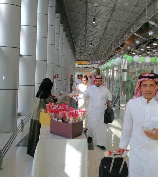 وصول اولى رحلات الخطوط السعودية لمطار نجران صباح هذا اليوم بعد إعادة تشغيلة