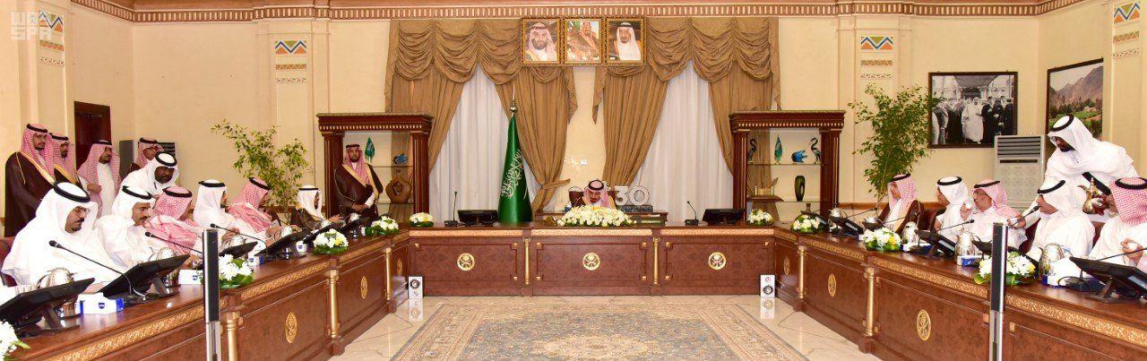 سمو أمير نجران يلتقي وكلاء الإمارة ومديري الإدارات العامة والداخلية
