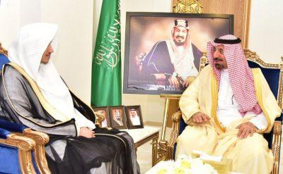 سمو أمير نجران يستقبل رئيس محكمة حبونا