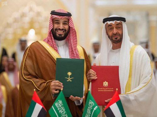 سمو ولي العهد وسمو ولي عهد أبو ظبي يرأسان الاجتماع الثاني لمجلس التنسيق السعودي الإماراتي