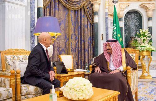 خادم الحرمين الشريفين يستقبل رئيس مجلس النواب الليبي
