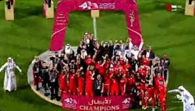 البحرين بطلاً لكأس الخليج لأول مرة في تاريخها بعد فوزها على السعودية بهدف دون رد
