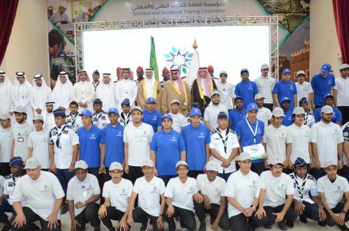 نائب أمير نجران يرعى حفل تخرج أكثر من 2100 متدرب ومتدربة من منشآت التدريب التقني والمهني بالمنطقة