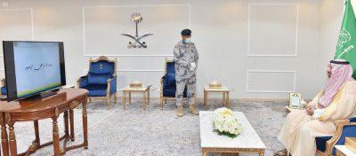 سمو أمير نجران يستعرض إنجازات حرس الحدود في إيجاز معلوماتي