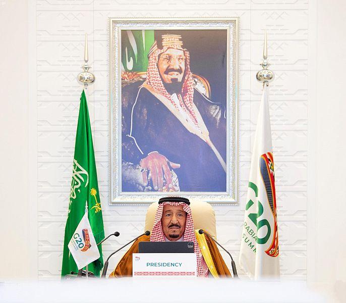 كلمة خادم الحرمين الشريفين الملك سلمان بن عبدالعزيز آل سعود - حفظه الله- اثناء افتتاحة لأعمال الدورة الخامسة عشرة لاجتماعات قمة قادة دول مجموعة العشرين