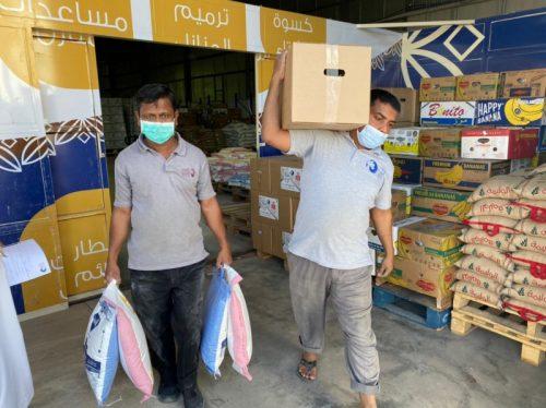 بدء توزيع السلال الرمضانية بخيرية نجران